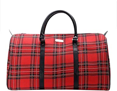 Red Royal Stewart Tartan Big Holdall by Signare/Ladies Trip Sports Travel Bag Hand Luggage Suitcase/BHOLD-RSTT