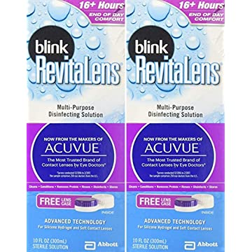 reliable Blink RevitaLens Multipurpose Disinfecting Solution 2 x 10oz Bottles