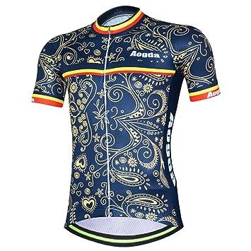 3cfdf92347d9b Aogda Men's Cycling Jerseys Short Sleeve Bicycle Racing Shirts Bib Shorts  Bike Cycle Clothing D196