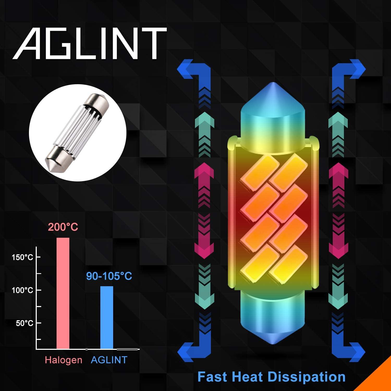 AGLINT C5W 38mm 39mm LED Lampadine CANBUS 6418 6411 DE3425 Festone Porta Soffitto Interne Auto Luci di Lettura Luci Plafoniera Luce Targa 12V Bianco