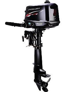 Amazon com: LEADALLWAY Four stroke 4 horsepower outboard motor