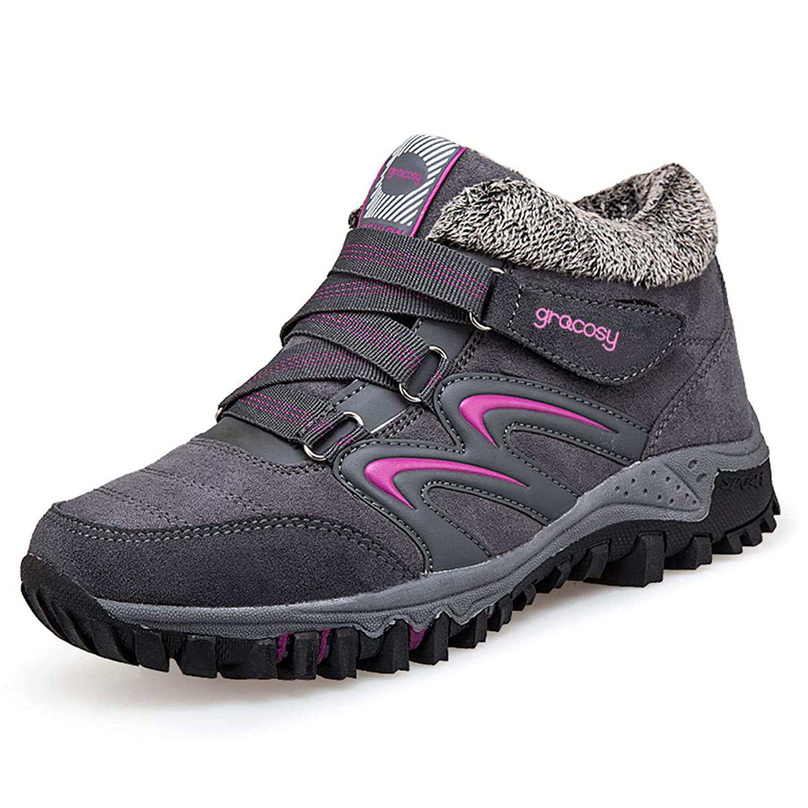 gracosy Women's Hiking Shoes High Top GRACOSYWERTY21416 - 1