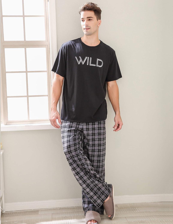 Richie House Mens Pajama Two-Piece Pajama Set Size S-XL RHM2850