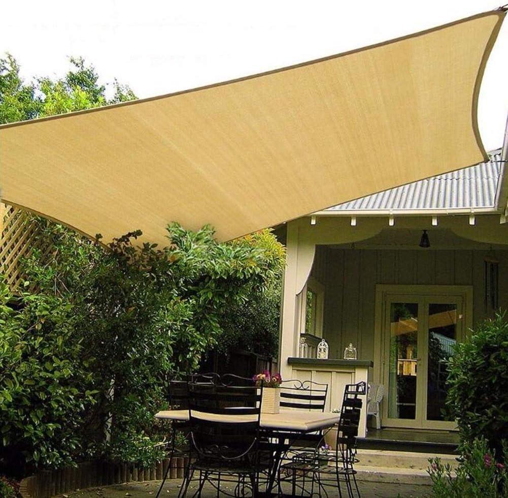 Beige Cortile Tenda Parasole Vela Giardino Metri Protezione Raggi UV Resistente e Anti-Strappo CHENG Tenda a Vela Parasole 2x2m per Esterni