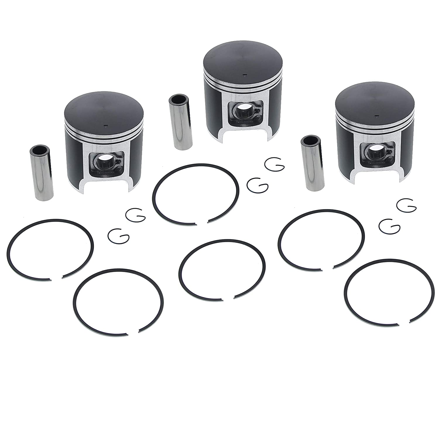 Race Driven Piston Kit x3 for Polaris Triumph 600 XC XCR XLT LTD SP RMK SKS Touring Snowmobile