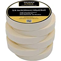 MEEDEN Painters Masking Tape Strong White Masking Tape, 6 Pack Wide Purpose Masking Tape for Art Watercolor Painting…