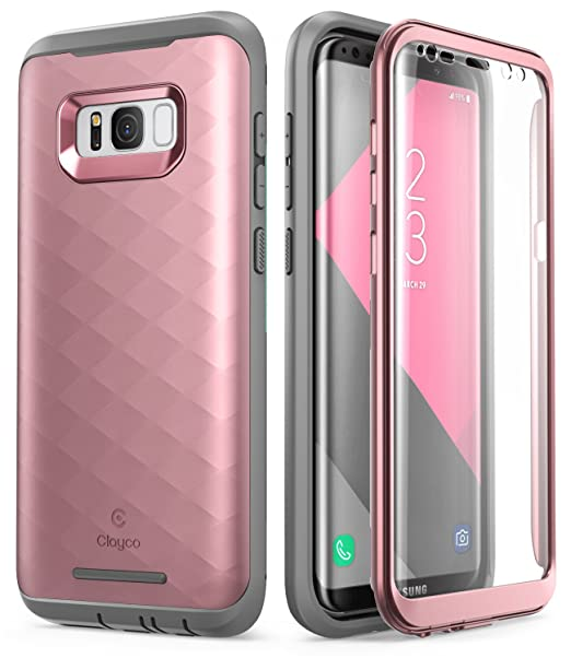 Clayco Samsung Galaxy S8 Plus Case, [Hera Series] Full-Body Rugged Case with Built-in Screen Protector for Samsung Galaxy S8 Plus (2017 Release) ...