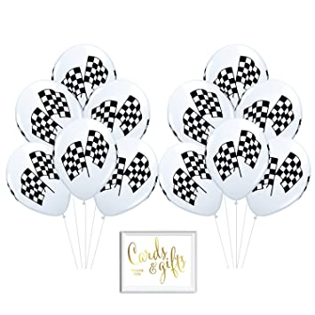 Andaz Press Bulk High Quality Latex Balloon Party Kit with Gold Cards &  Gifts Sign, Black and White