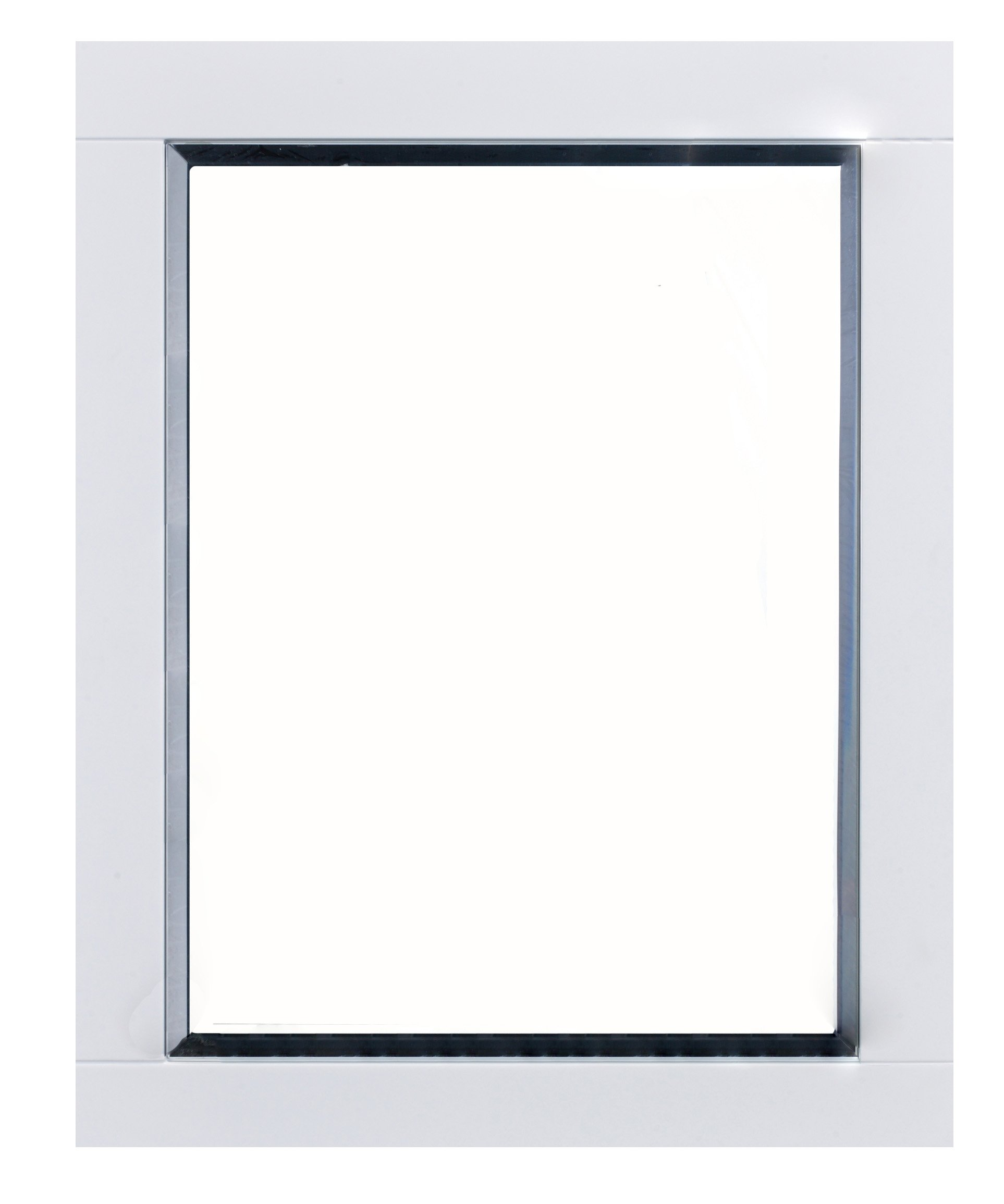 Eviva Evmr412-24x30-Wh Aberdeen 24'' White Framed Bathroom Wall Mirror Combination