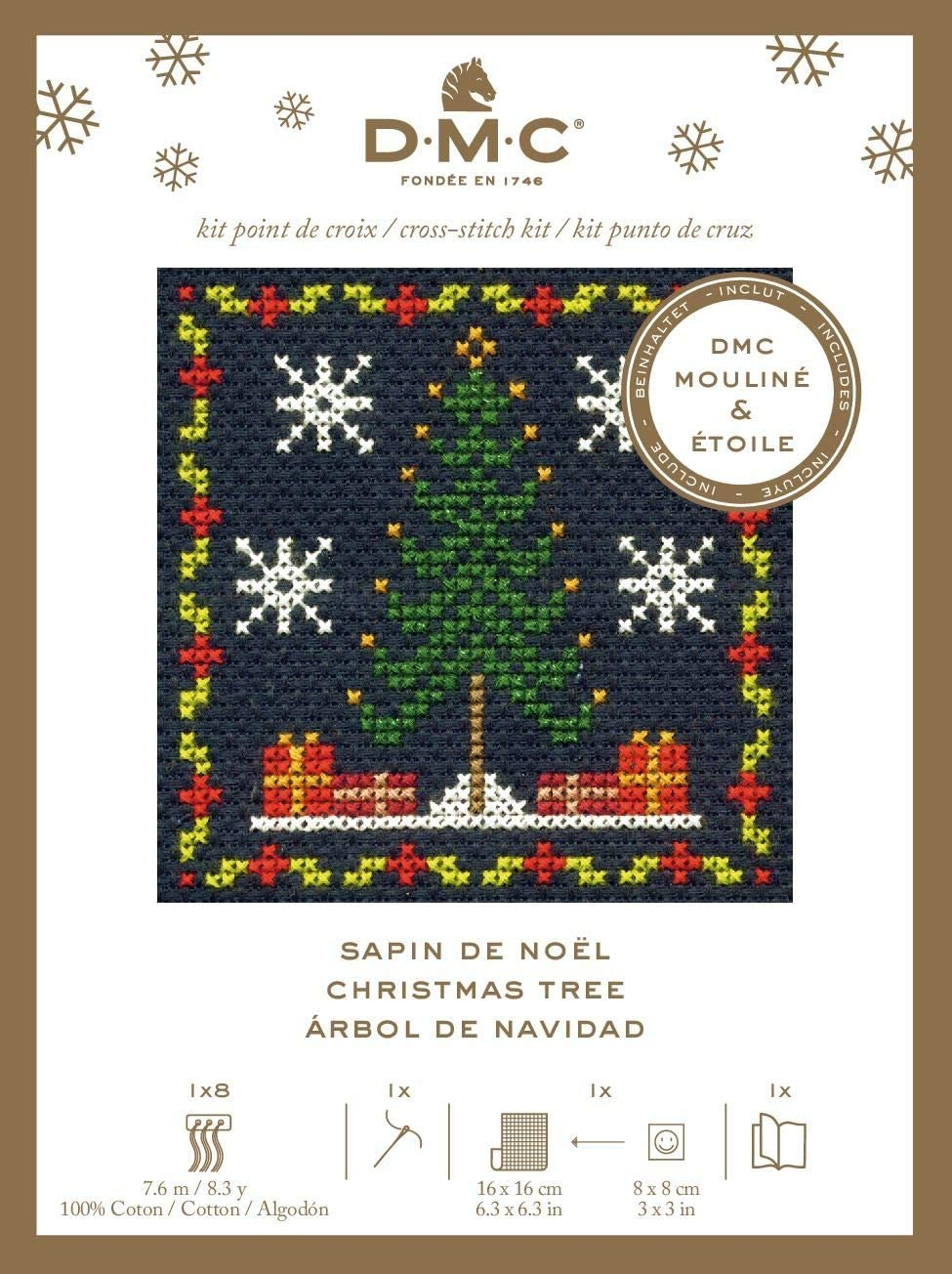 DMC Chistmas Counted Cross Stitch Kit Christmas Gifts
