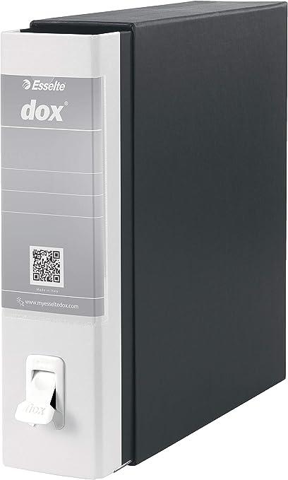 Esselte Dox 1 - Archivador de anillas con palanca (formato A4), color blanco: Amazon.es: Oficina y papelería