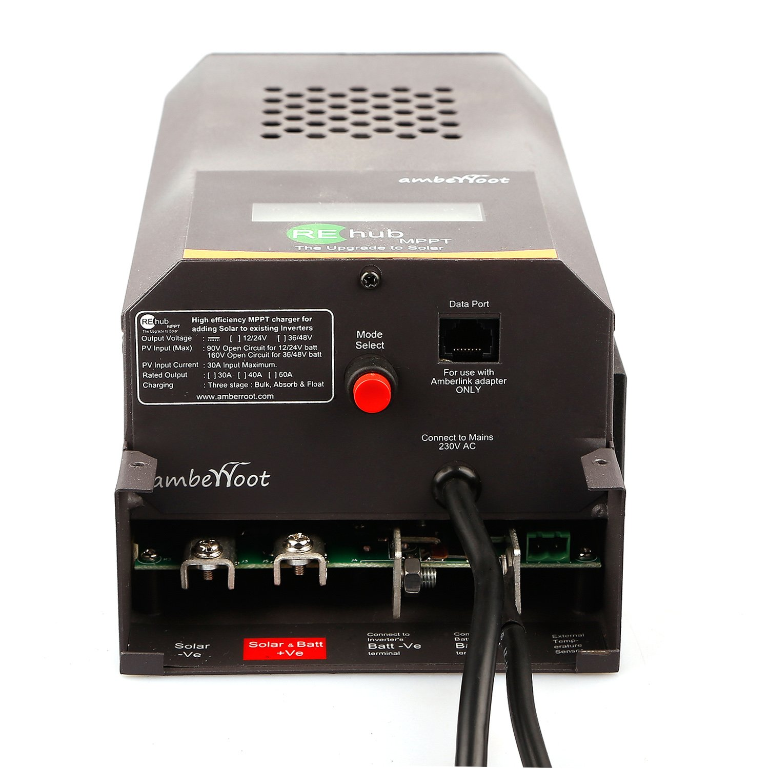 Amberroot Systems Rehub Mppt 12 24v 40a That Add Solar To Existing High Power Inverter Circuit Backup Garden Outdoors