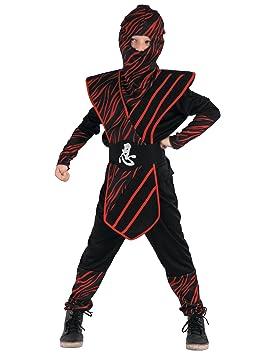 Disfraz de Ninja salvaje rojo Niño: Amazon.es: Juguetes y juegos