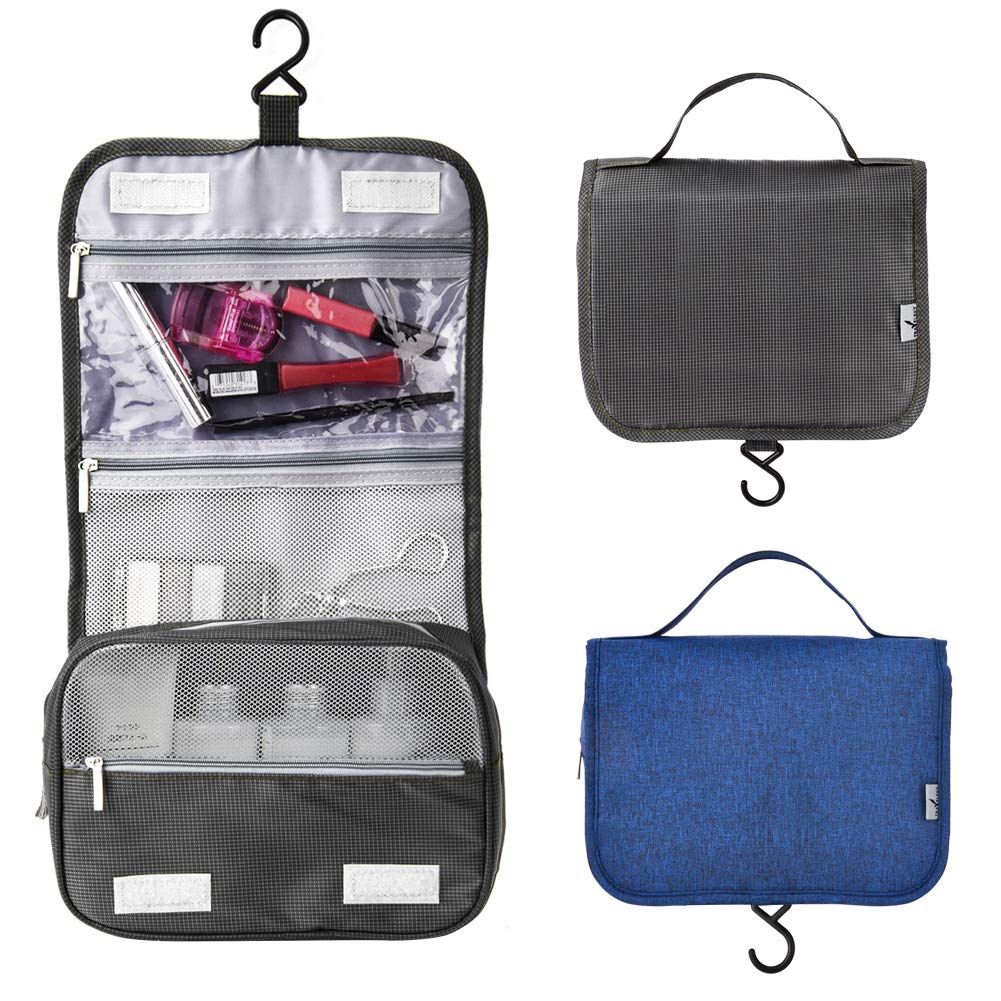 Rooya Baby Travel Toiletry Bags, Hanging Cosmetic Bag/Portable Travel Kit/Makeup Organizer (Deep Blue) ROOYA BABY Direct-EU