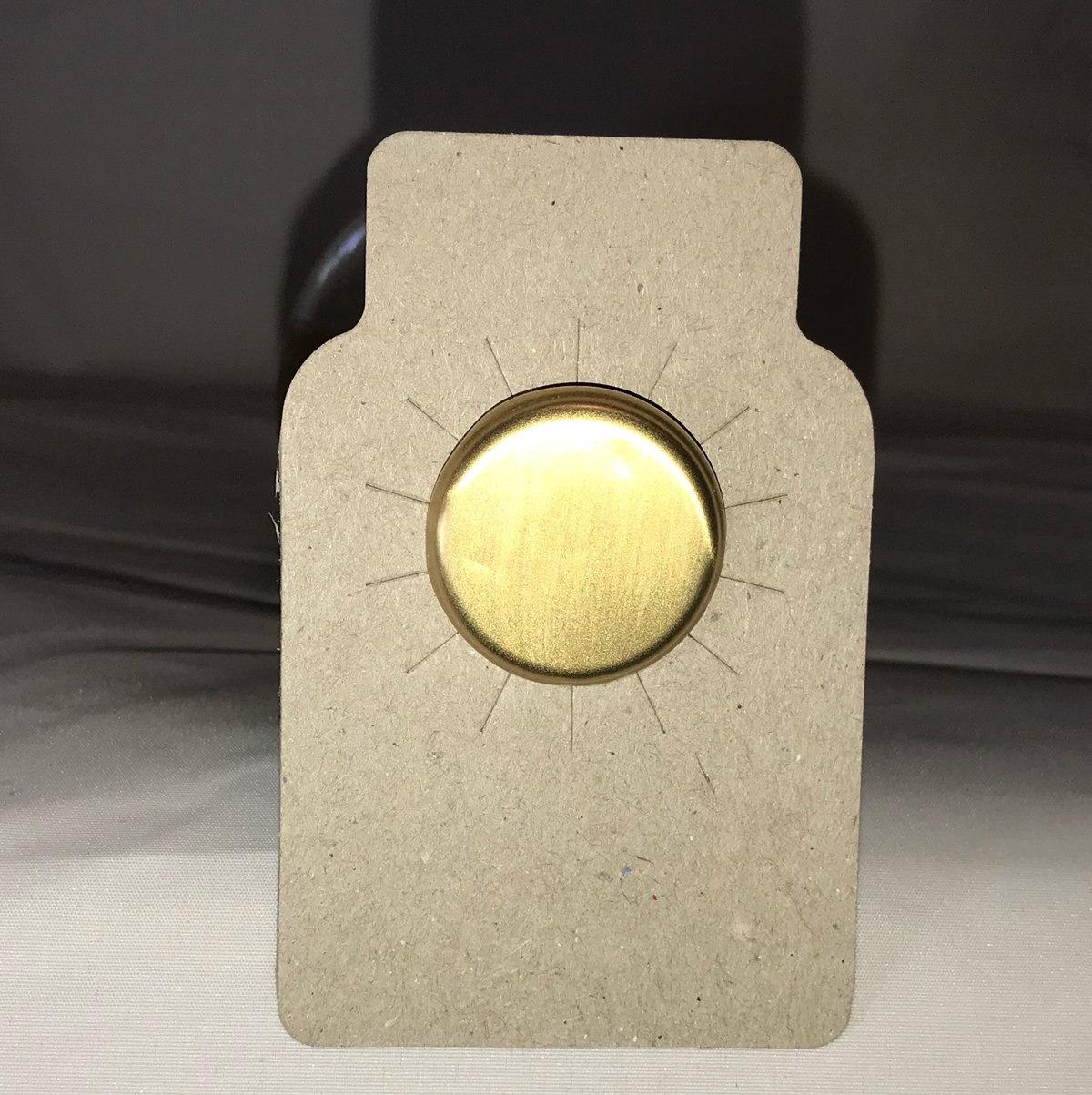 110 Wine bottle tags brown chipboard paper - made in USA