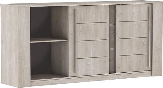 Miroytengo Mueble aparador salón Comedor Puertas correderas cajones Push Armario diseño 206x94: Amazon.es: Hogar
