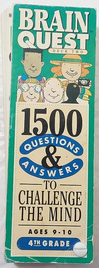 Amazon Com 1500 Preguntas Y Respuestas Desafiar A La Mente Edades 9 10 4 Grado Cerebro Quest Cubierta 2 Toys Games