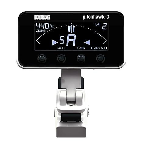 Korg pitchHawk AW-3 G - Afinador cromático para guitarra y bajo (con enganche