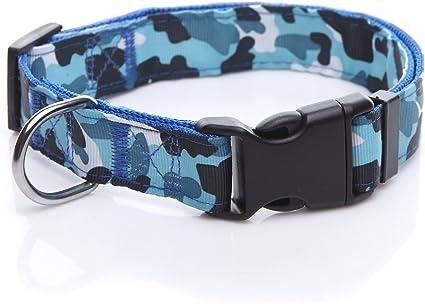 WORLD PET Adjustable Dog Collar M-camo