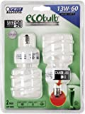 BPESL13TC/2 ECOBulb 13W/60W Twist CFL Candelabra Base Bulbs