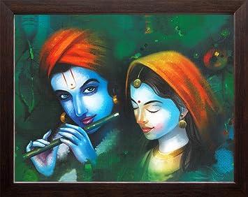 Lord Krishna Modern Art Hd