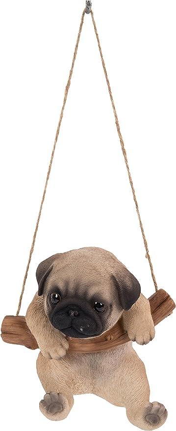 Amazon Com Hanging Pug Puppy Garden Outdoor