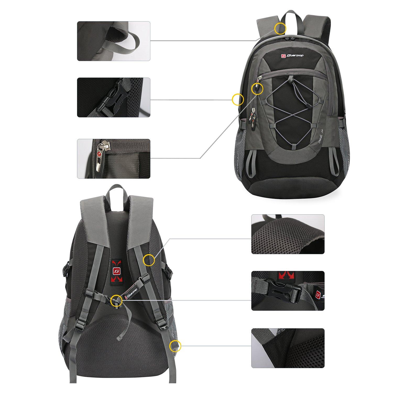 Zaino ultralight per il campeggio, l'arrampicata, il ciclismo, nero nero nero | bello  | Qualità Superiore  89ecf3