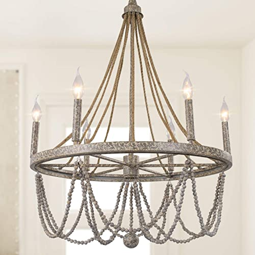 LOG BARN Farmhouse Chandelier