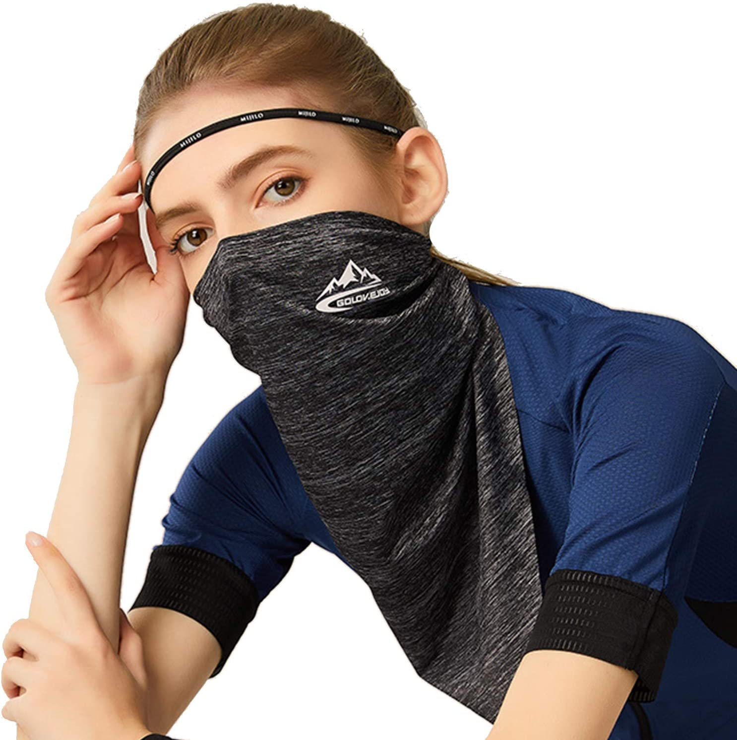 Eroilor Stretchable Tubular Multifunctional Headwear Breathable UPF50 Cooling Mask for Summer Outdoor Sports