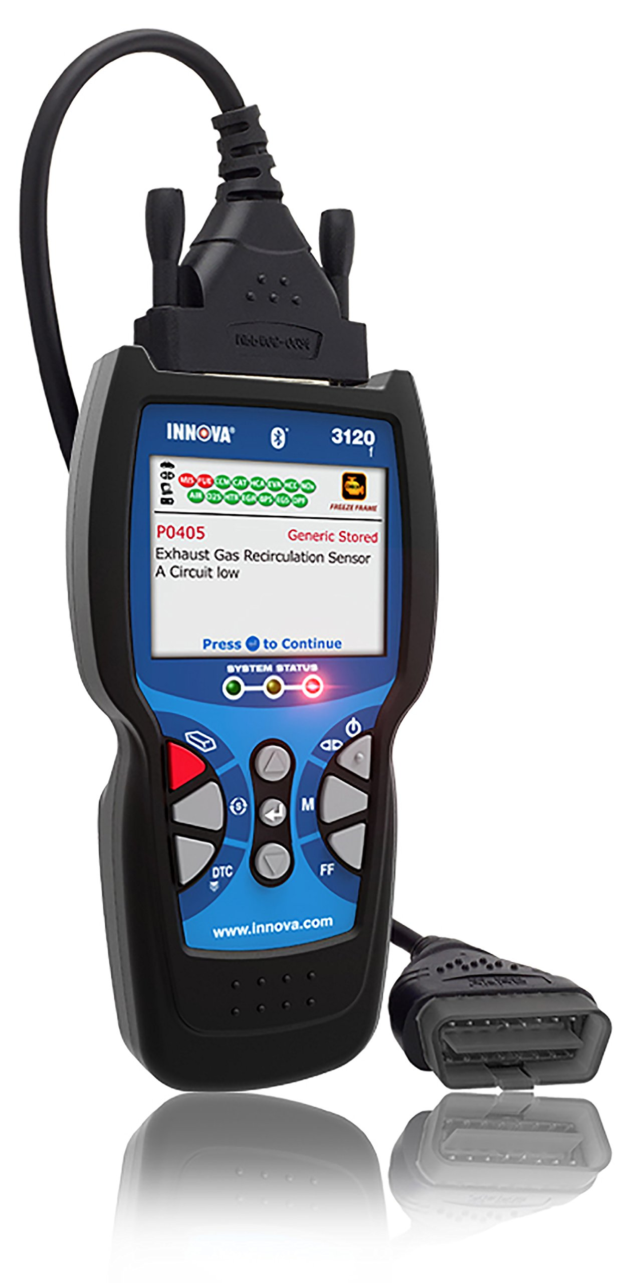 Innova 3120f Code Reader / Scan Tool with ABS and Bluetooth for OBD2 Vehicles with OBD1 Coverage