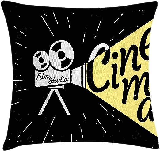 hgfyef Funda de cojín de cojín de Cine, Dibujo de proyector de ...