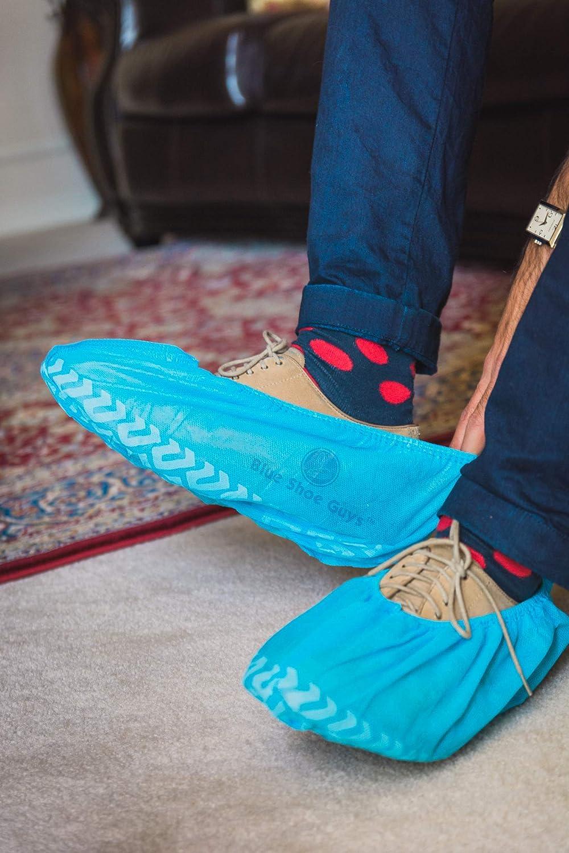 Di Grandi Dimensioni Adatto Per La Maggior Parte Riciclabile Antiscivolo Resistente Scarponi E Ccarpe monouso Blue Shoe Guys Interno // Esterno Da 100 Confezioni