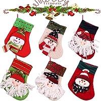 MMTX Juego de 6 Calcetines de Navidad Regalode