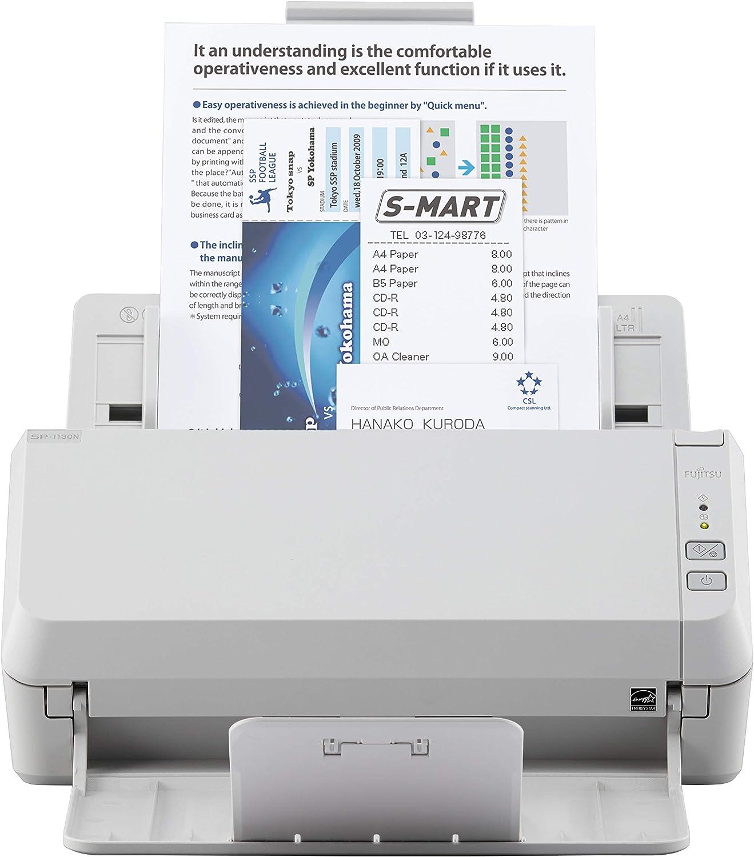 Fujitsu SP-1130N Duplex Document Image Scanner, White