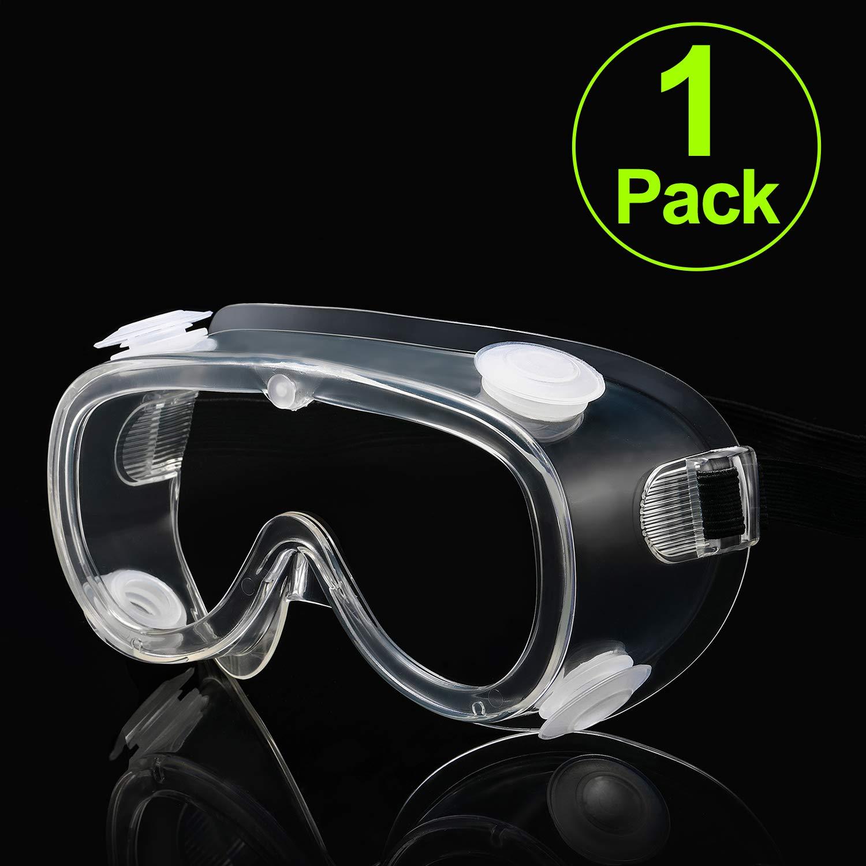 Carfia Gafas de seguridad Gafas de Proteccion Lentes antiniebla transparentes Antiproyección Lentes a prueba de polvo Lentes de Protección