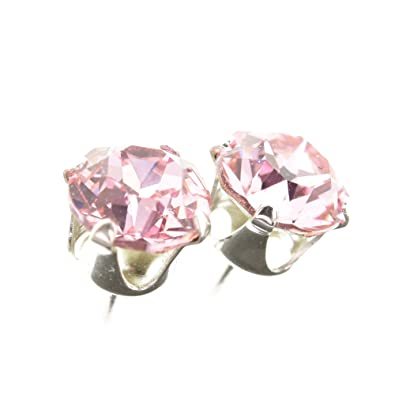 2b13ae9207022 925 Sterling Silver stud earrings for women made with sparkling Light Rose  crystal from LONDON. London jewellery box. Hypoallergenic & Nickle Free ...