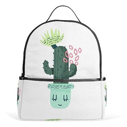 776e5c7d11f9 Amazon.com: MALPLENA Shy Cactus Small Travel Backpack Hiking ...