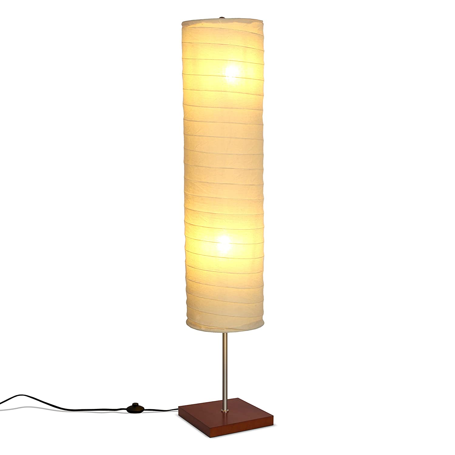 Brightech – Serenity LED Floor Lamp for Living Rooms Bedrooms Mid Century Modern Minimalist, Ambient Light Perfect for Beside The Bed or Office, Corner Lamp – Havana Brown
