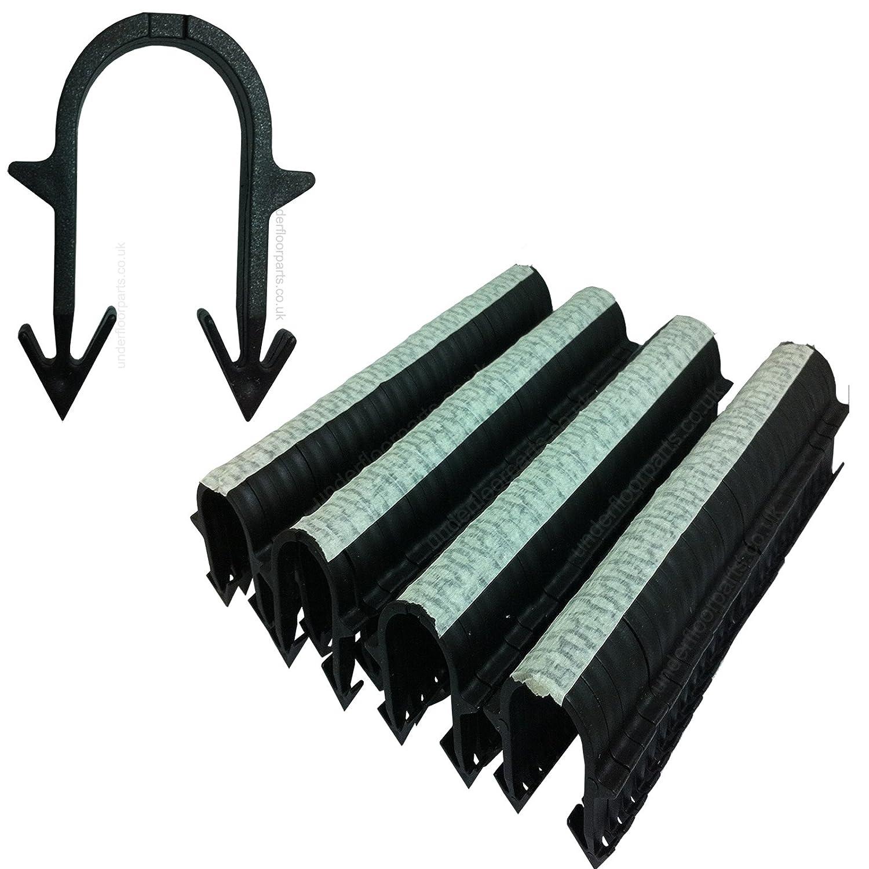1500 Underfloor Heating Tacker Pipe Clips 60 mm Extra Long Black UFH Staples