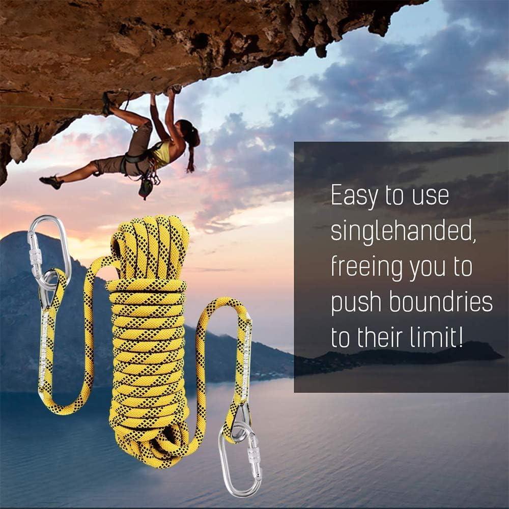 Climbing rope-yy Corde de S/écurit/é 12mm Corde Sauvetage Plein Air Anti-Fissuration Montagne avec 2 Boucles Corde Statique Alpinisme La Randonn/ée Corde dalpinisme 10M 20M 30M 50M 100M