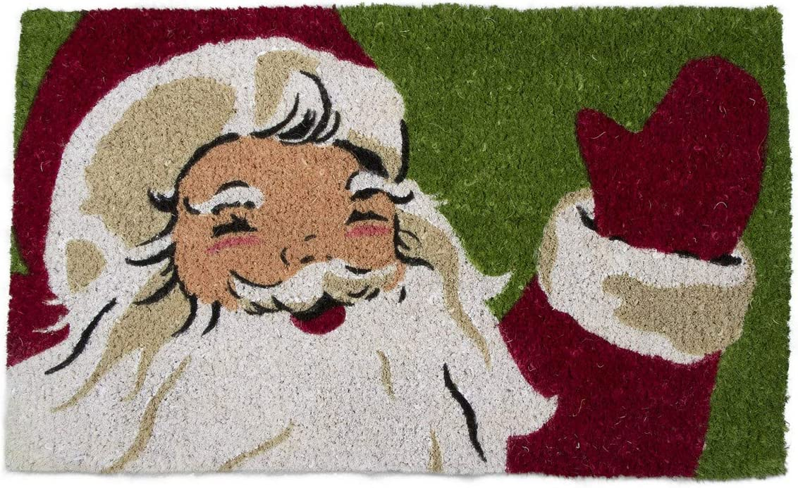 Tag Vintage Santa Coir Doormat Indoor Outdoor Welcome Mat 1 6 x 2 6 Vintage Santa