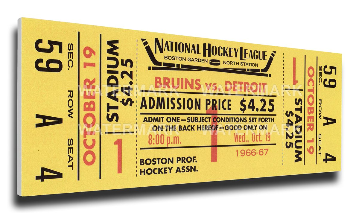 Amazon.com: That\'s My Ticket Bobby Orr First NHL Game Mega Ticket ...