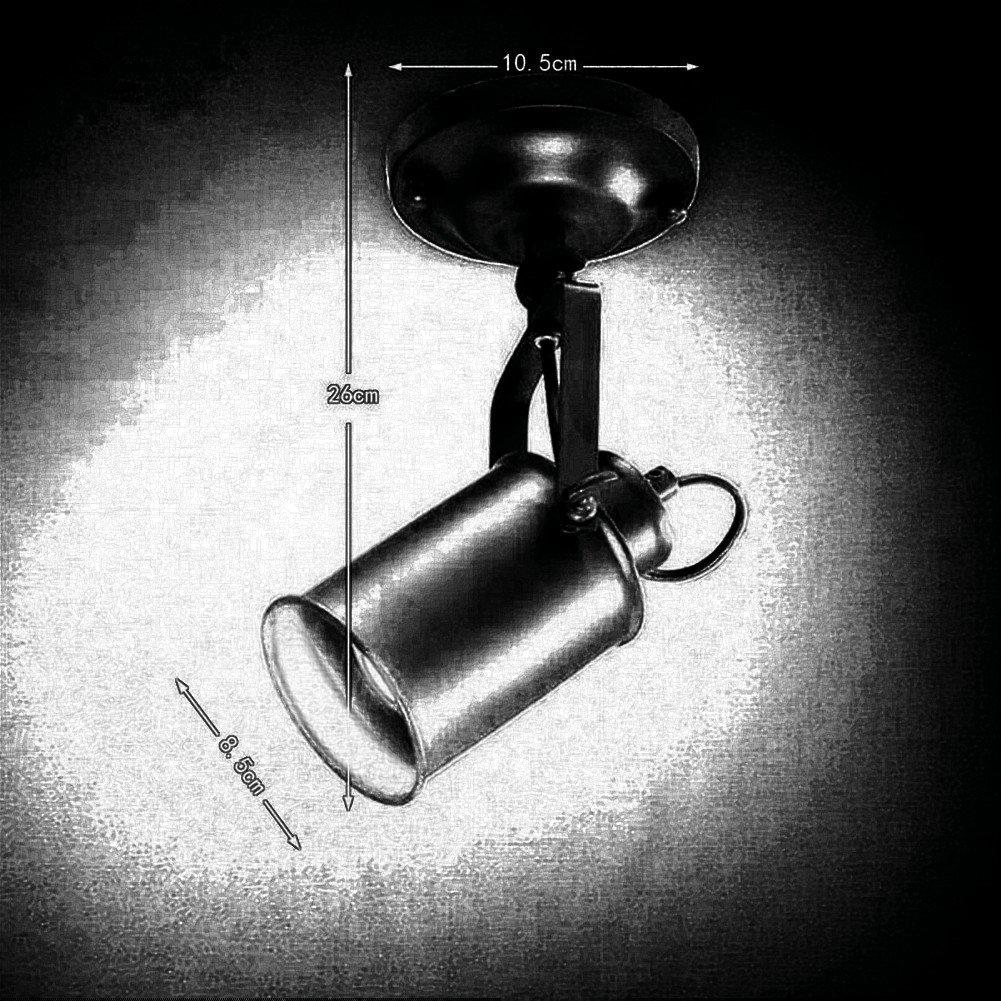 Wandstrahler,Deckenspot,schwenkbar f/ür Wohnzimmer Schlafzimmer JINYU Loft LED Wandleuchte,Up Down Wandlampe im modern Stil E27,Deckenleuchte,Deckenlampe,Spot,Wohnzimmerlampe,Deckenstrahler