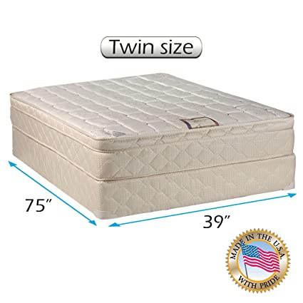 twin size mattress. Delighful Twin Tomorrowu0027s Dream Inner Spring Pillow Top Euro Top Twin Size Mattress And  Box On I
