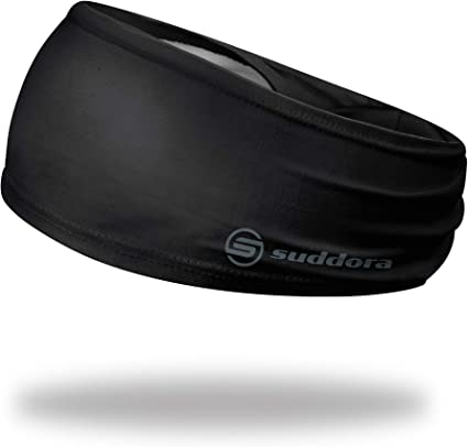 Suddora Solid Color Wide Headband//Sweatband Football Gold - Workout Yoga Made in USA Soccer
