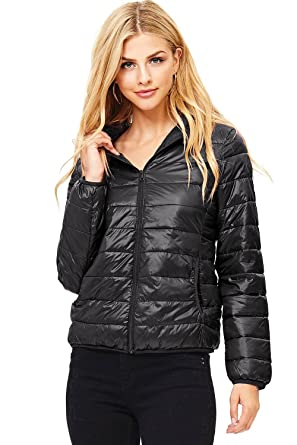 22ca16a49 Ambiance Women's Light Quilted Puffer Jacket