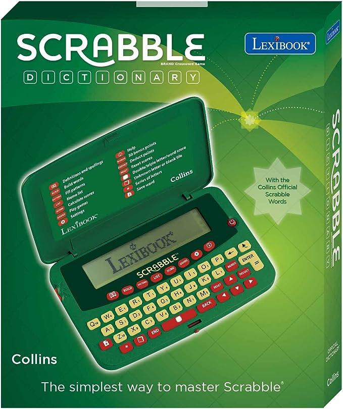 Amazon.es: LEXIBOOK- Diccionario electrónico de Scrabble Deluxe, Color Blanco, Talla única (SCF-328AEN)