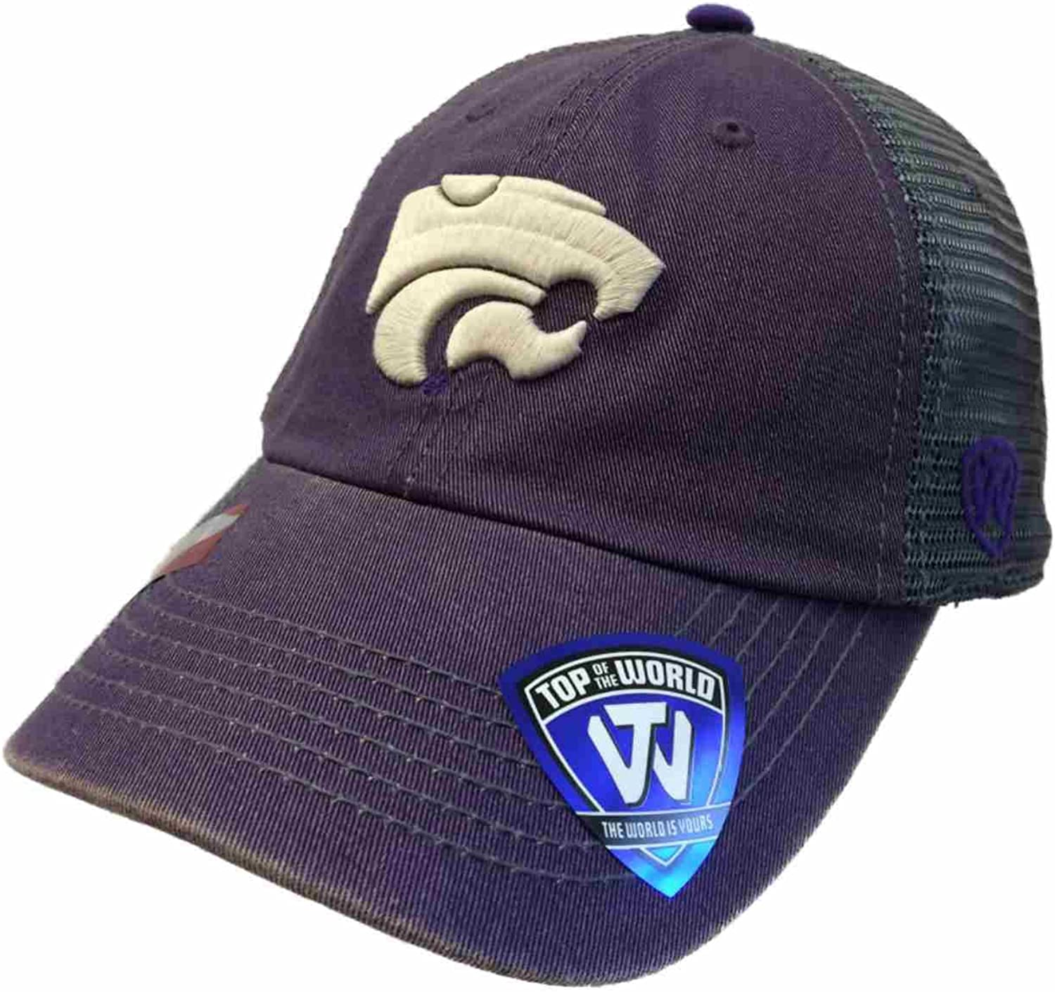 Purple NCAA Kansas State Wildcats Relaxed Fit Adjustable Mesh Offroad Hat Adjustable