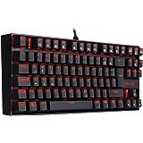 REDRAGON K552-DE KUMARA Mechanische Gaming Tastatur LED RGB Rot Beleuchtete Mechanische Tastatur Blaue Schalter Für PC Gaming 87 Tasten Kompaktes Design (QWERTZ Deutsches Tastaturlayout)