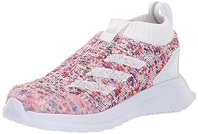 super popular b9457 502db adidas Baby RapidaRun Laceless Knit Running Shoe White Grey, 4K M US Toddler